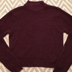 Wet Seal | Maroon Sweater Crop Top 😍